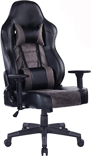 Blue Whale Big Tall Gaming Chair with Massage Lumbar Support