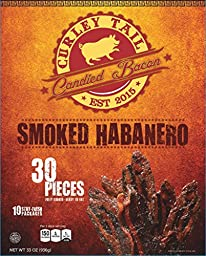 Curley Tail Candied Bacon - Smoked Habanero (30 Pack)