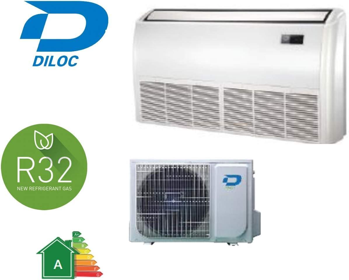 D.PAV-IN12 12000 BTU Gas R32 Diloc Aire Acondicionado Azul Ice Floor Aire Acondicionado Suelo Inverter D.FROZEN240