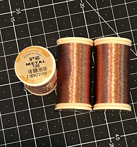 Fil Au Chinois - Amazing METALLIC Thread - GOLD, SILVER, COPPER Nr 40 - 100m bobin - Made in France (Copper)