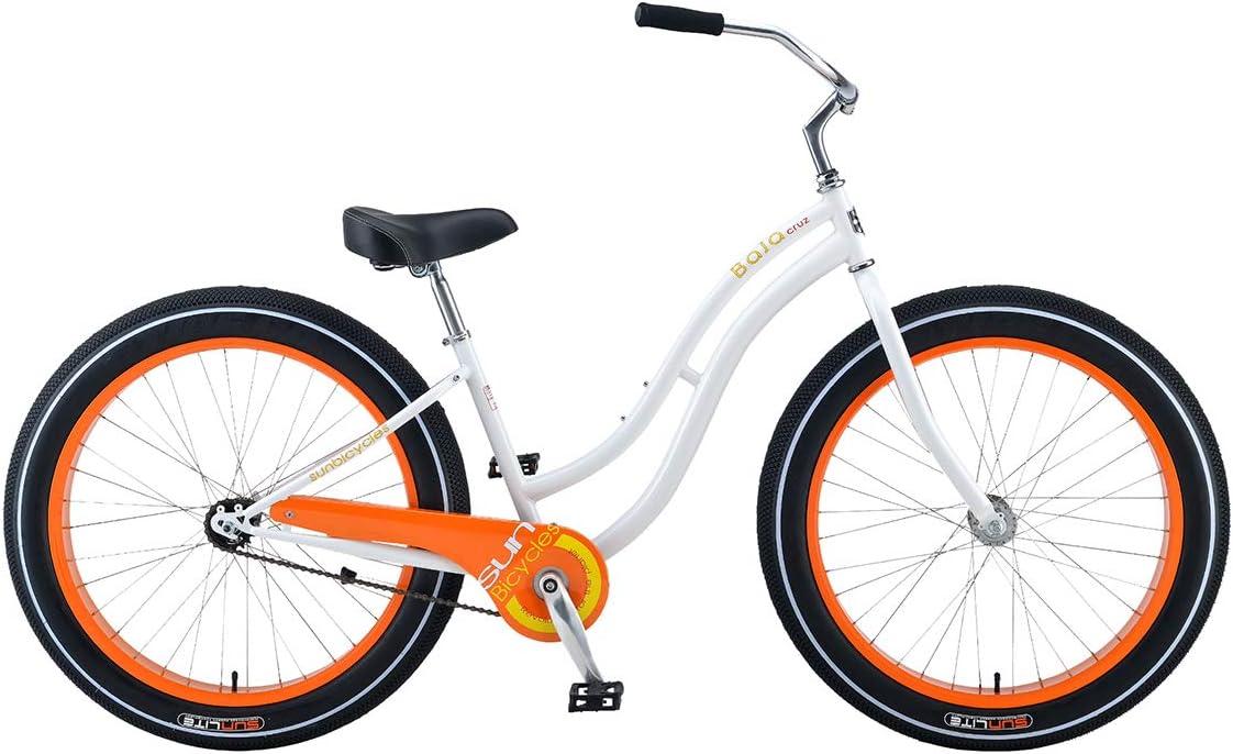 Bicicleta Sun Baja Cruz Lady Blanca CB: Amazon.es: Deportes y aire ...