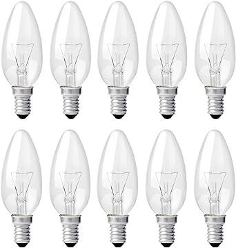 Glühlampen 15W Standard Glühbirnen E27-10 x 15 Watt Industrie Glühlampe klar
