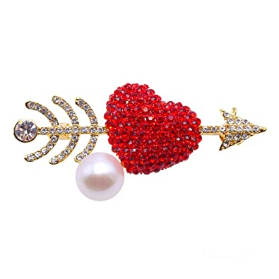 de1a55b5dbc Image Unavailable. Image not available for. Color: JYX Pearl Brooch Fine  Freshwater Pearl Brooches Pins ...