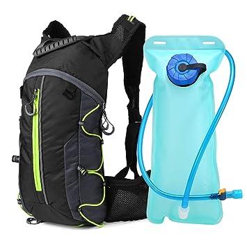 Lixada Mochila de Ciclismo Ligero Plegable Mochila de hidratación con Bolsa de Agua 2L para Ciclismo Deportes al Aire Libre: Amazon.es: Deportes y aire libre