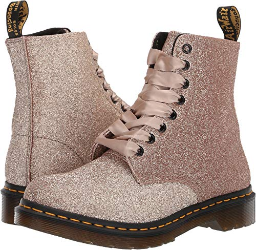 (Dr. Martens Women's 1460 Pascal Glitter Rose Gold Uncoated Glitter Pu 4 M UK)