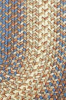 Indoor & Outdoor Rug, Braided Textured Design, Sunroom/Porch Carpet