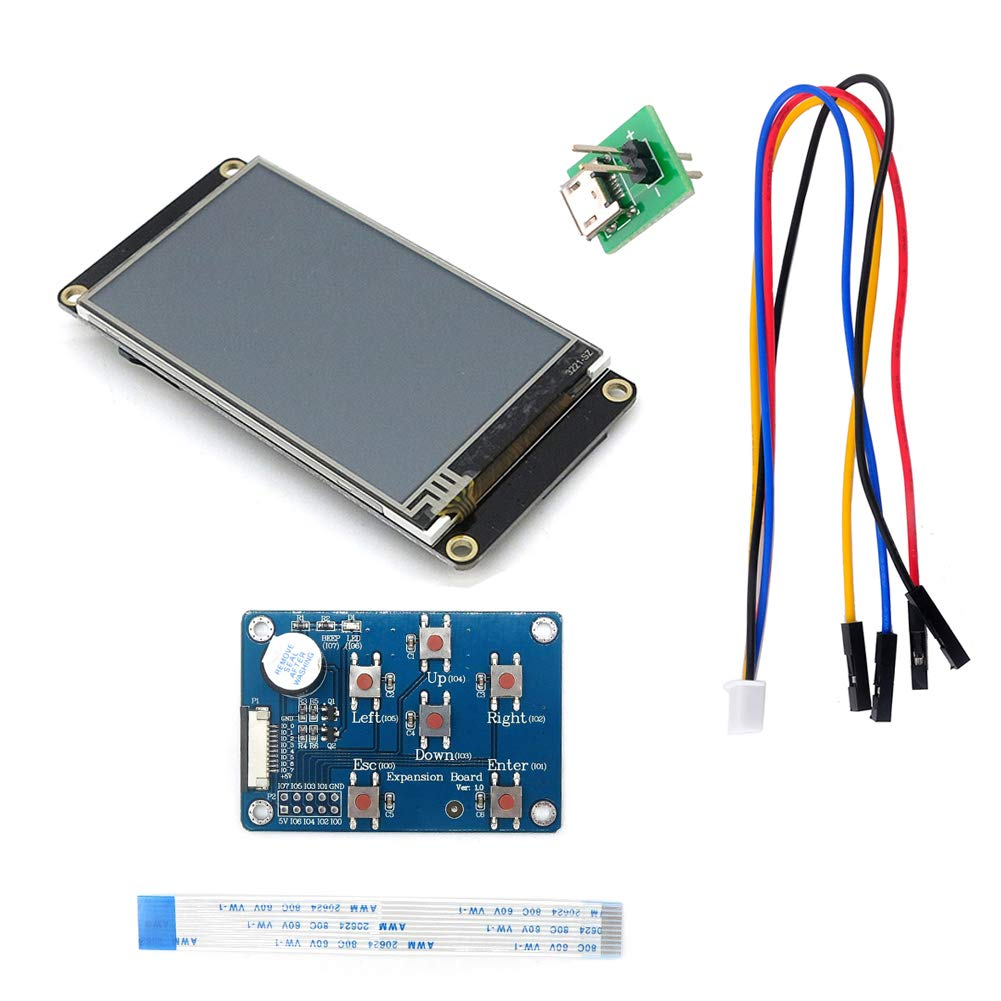 Nextion Enhanced 3.2'' HMI Touch Display 400×240 pixel Screen Panel NX4024K032 with I/O Extended Expansion Board for Arduino Raspberry Pi