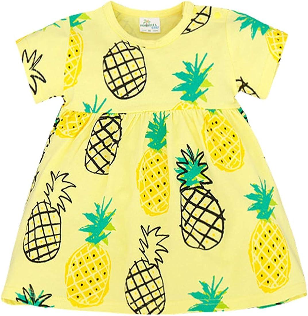 KUKEONON Kid Infant Girls Chinese Style Cheongsam Floral Dress Short Sleeve Print Skirt