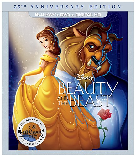 Beauty and the Beast: 25th Anniversary Edition - (BD+DVD+DIGITAL HD) [Blu-ray] (Ray Blue Princess Movies Disney)