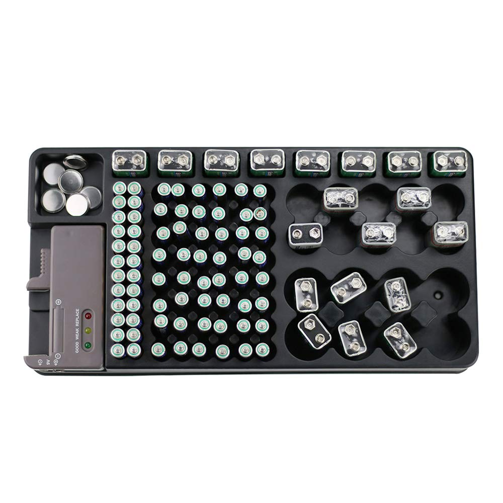 Battery Organizer Storage Rack with a Removable Battery Tester Holds (120)