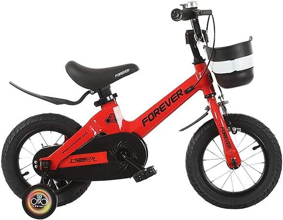 Bicicletas niños niño Chica 3-6-7-10 años de Edad Niño 12/14/16 Pulgadas Exterior (Color : Red, Size : 14in): Amazon.es: Hogar