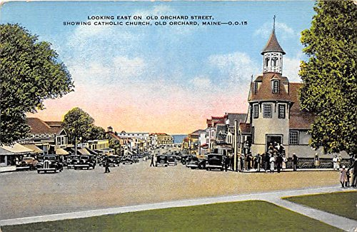 (Catholic Church on Old Orchard Street Old Orchard Maine Postcard)