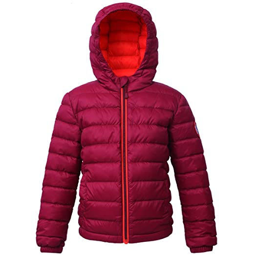 a0bb08e0c Rokka&Rolla Boys' Ultra Lightweight Hooded Packable Puffer Down Jacket