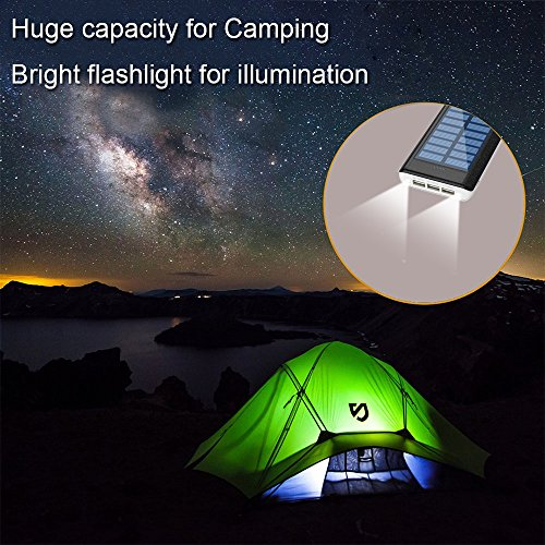 Solar Charger 24000mAh HuaF Power Bank Portable Charger Battery Pack With Dual Recharge Methods By Socket By Light For iPhone, iPad, Tablet, Samsung Galaxy, Android Phone And More by HuaF (Image #4)