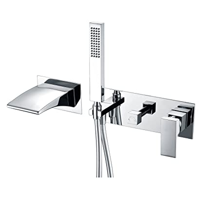 fr faucets chrome series single handheld faucet with deck polished sprayer den anzzi roman p tub in handle mount