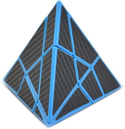 Cubelelo LeFun Carbon Fibre Pyraminx Ghost Cube Pyramid speedcube Rubix Rubic Rubiks