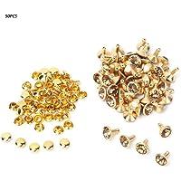 50Pcs Studs de diamantes de imitación, remaches