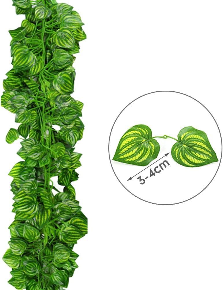 12 Pcs 84 Ft Lierre Artificiel Feuillage Vert Exterieur Lierre Artificielle Guirlande D/écoration pour C/él/ébration Maison Cuisine Lierre Artificielle Plantes Guirlande Vigne Mariage Ivy Jardin