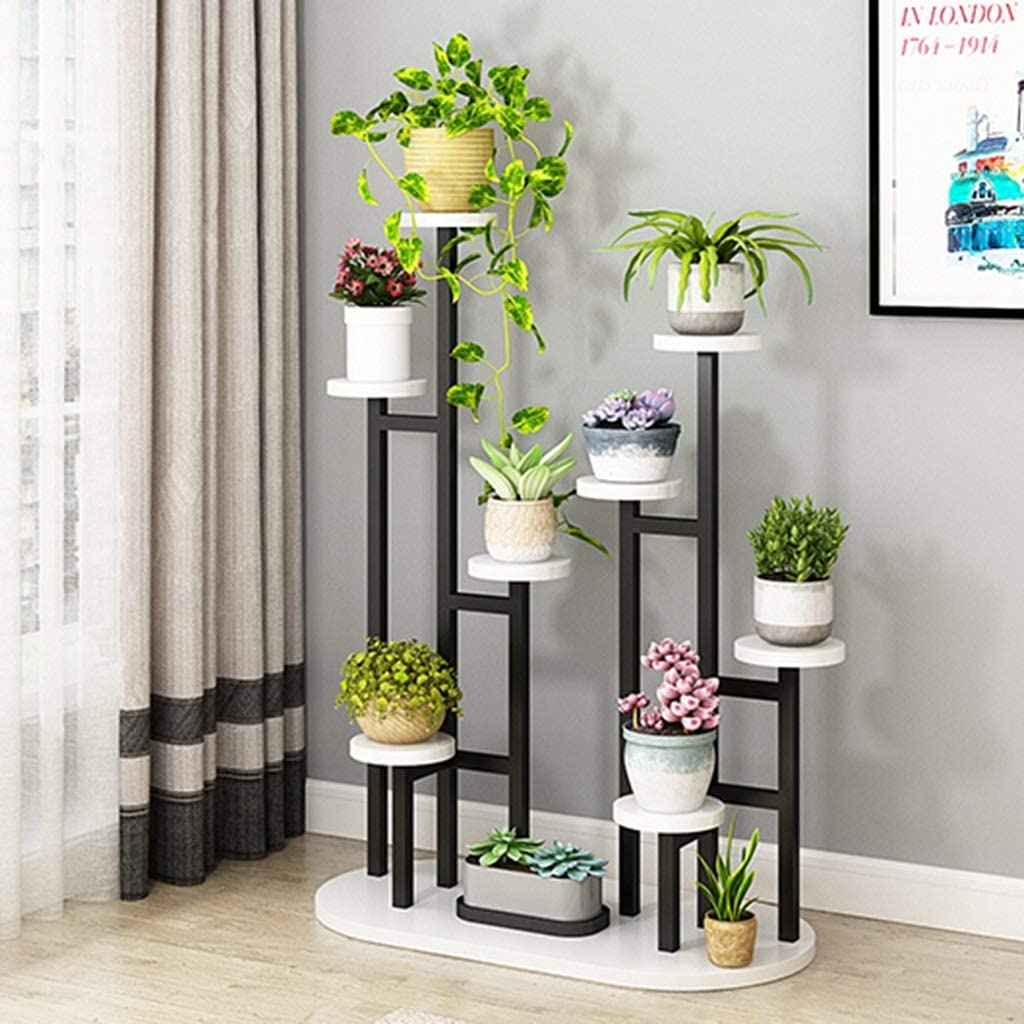 YCDJCS Flower Stand Home Multi-Layer Balcony Rack Plant Stand Round Living Room (Color : D, Size : 9040120cm)
