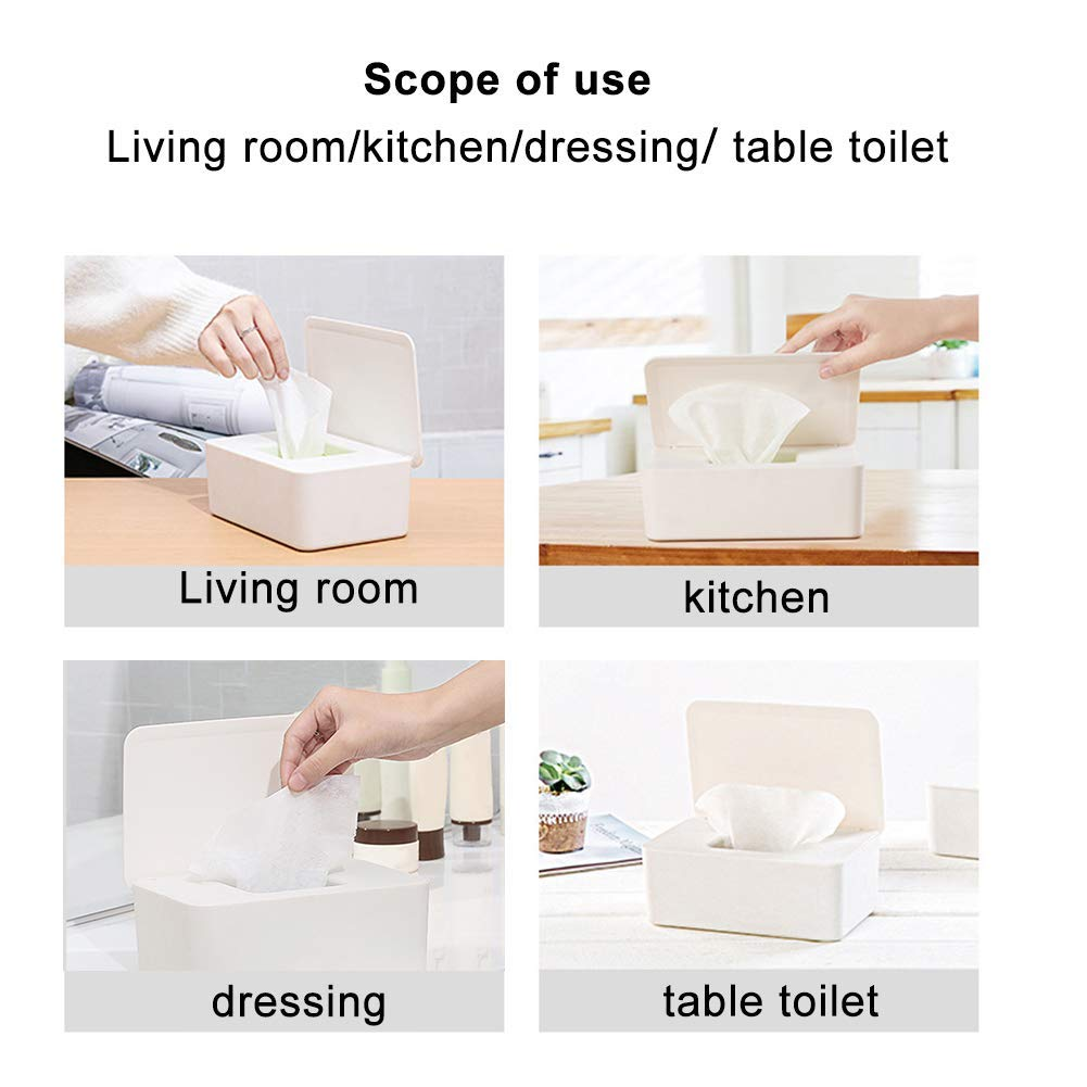 LVHE Dry Wet Tissue Paper Case Care Baby Wipes Napkin Storage Box Holder Container Wipes Dispenser Home Tissue Holder Accessories Regular