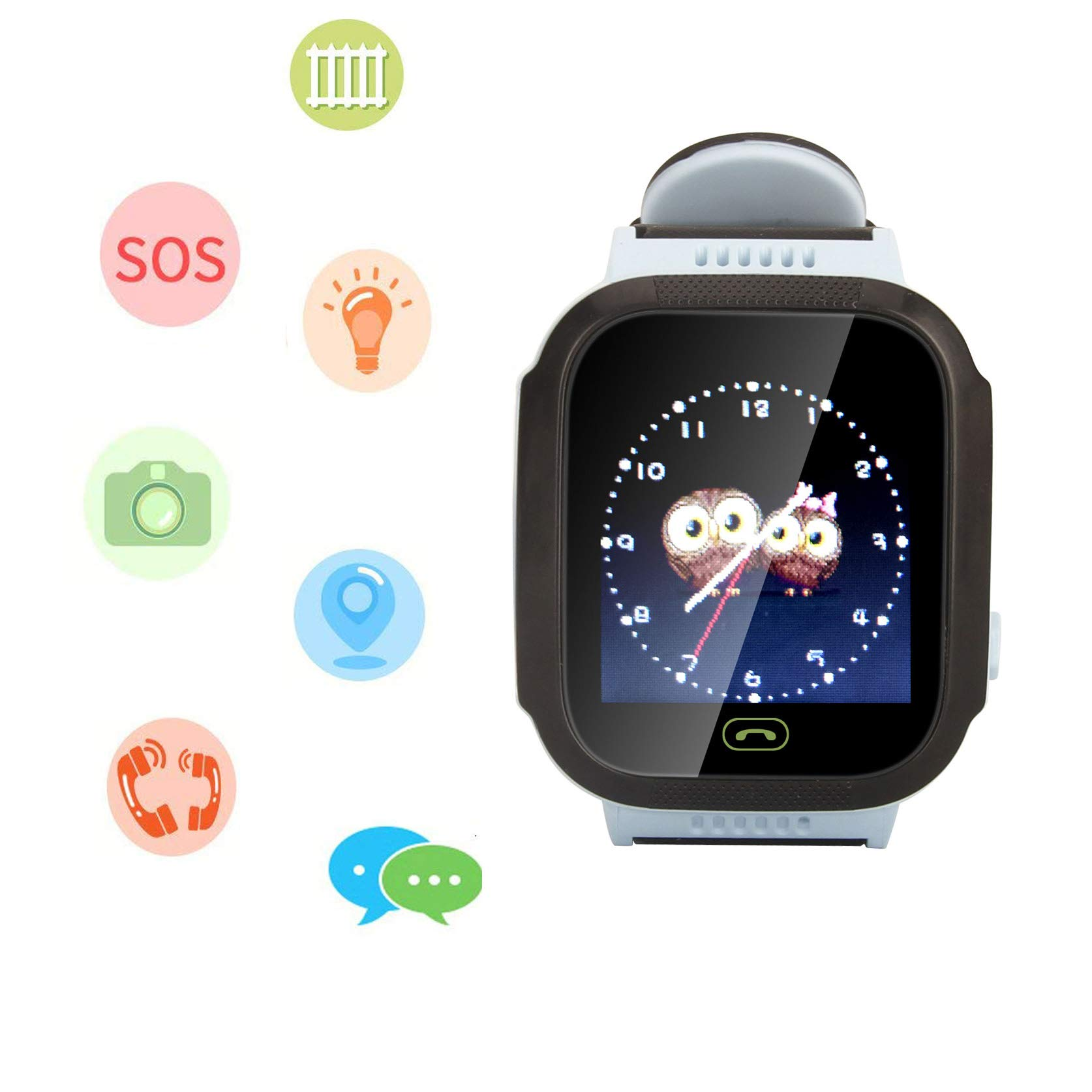 Smart Watch for Kids, LBS Monitor Locator Watch Phone Two-way Call Activity Tracker With  Electronic Fence SOS Safe Anti-Lost Location Device Tracker for Kids Safe by TKSTAR (Image #1)