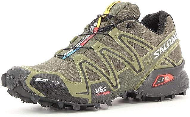 Salomon Speed Cross 3 CS, hombre Zapatillas de deporte., verde oliva: Amazon.es: Deportes y aire libre