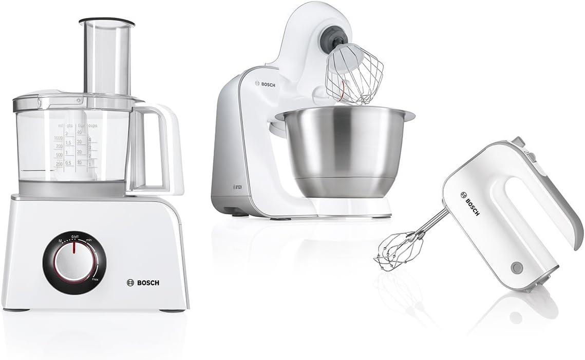 Bosch Mcm4200 Robot Da Cucina Multifunzione Colore Bianco Argento 800 W Amazon It Casa E Cucina