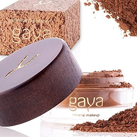 Gaya Cosmetics Mineral Foundation Full Coverage - Professional Vegan Natural Make up Face Powder Foundation with Makeup Concealer For All Skin Types (MF3)