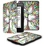 Fintie Funda Protectora para Kindle Paperwhite - Ultra Slim Ligera Shell Funda Carcasa con Auto-Sueño / Estela Función para Amazon All-New Kindle Paperwhite (2015 300 ppp 3ra Generación / 2014 / 2013 / 2012), Love Tree