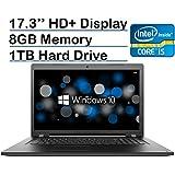 Lenovo Ideapad 17.3-inch HD+ Laptop PC (6th Gen Intel Core i5-6200U 2.3GHz Processor, 8GB Memory, 1TB HDD, DVD-RW, Bluetooth, HDMI, Wireless A/C, Windows 10-Black)
