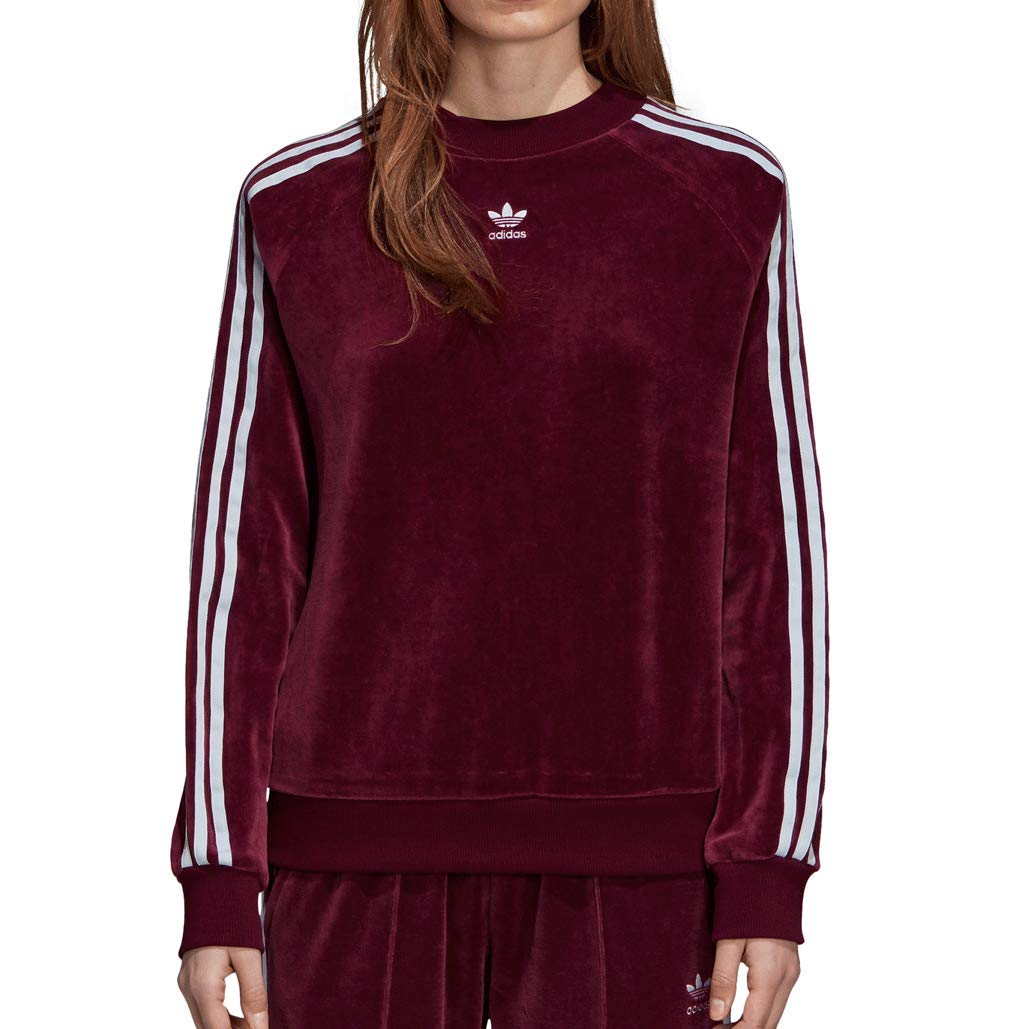 adidas Women Originals Crew Sweatshirt Maroon DH3112