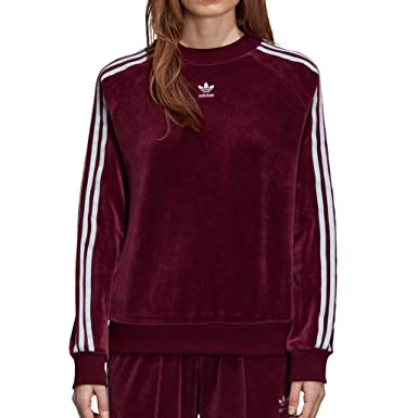 adidas Women Originals Crew Sweatshirt Maroon DH3112 at Amazon ... 08cb5e02cf6