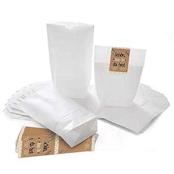 Logbuch-Verlag - Bolsas de papel pequeñas blancas + ...