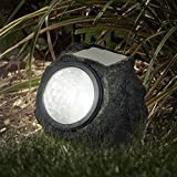 Pure Garden 50-21 Solar Rock Landscaping Lights (Set of 4) by Pure Garden