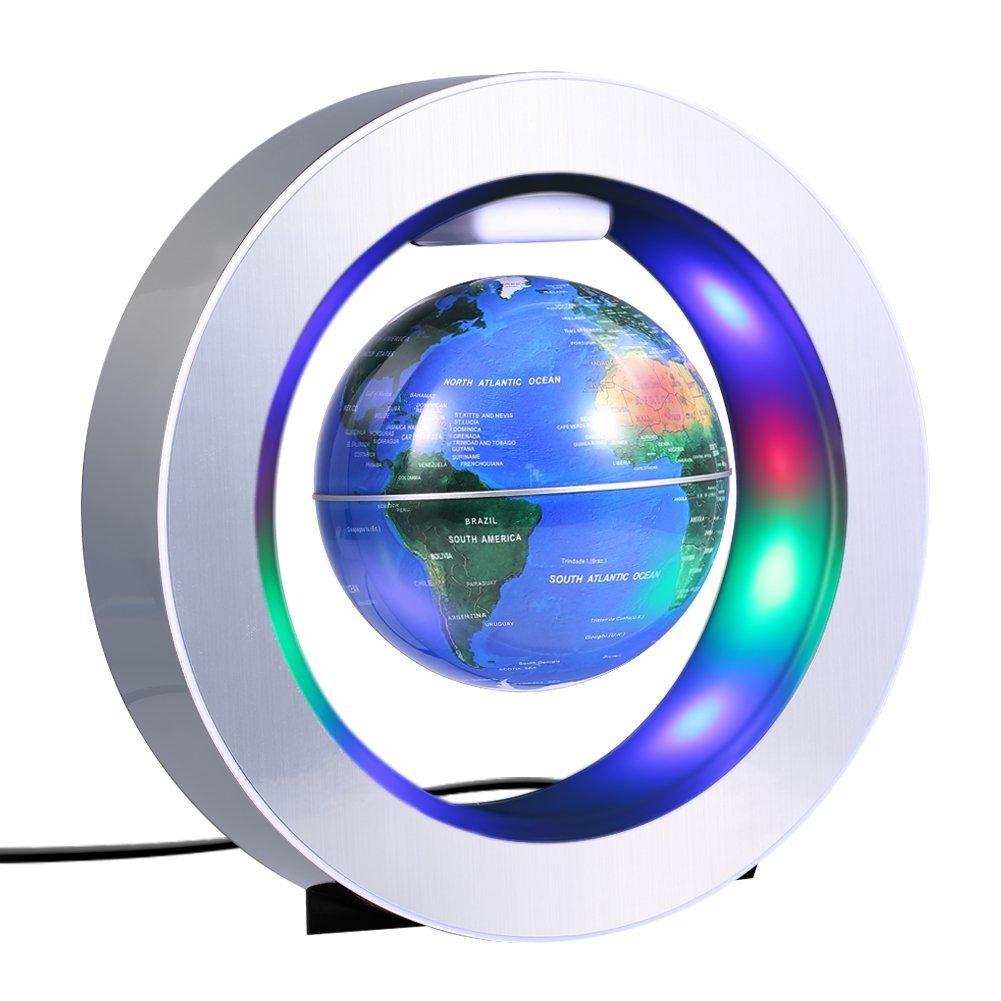 Mappamondo Magnetico Fluttuante con LED, Globo a Levitazione Globo Magnetico Genmine