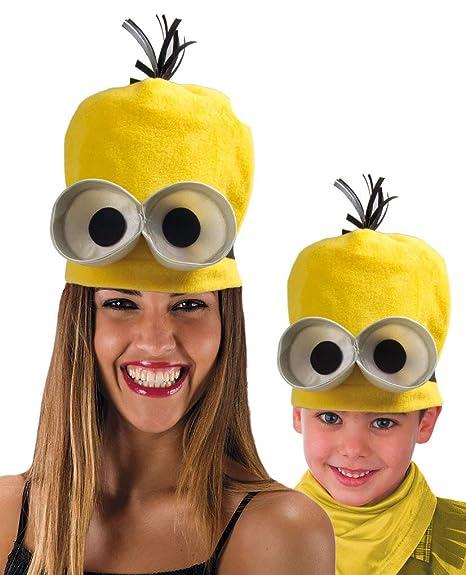 59f8a06e7e40 carnival toys 5480 cappello omino giallo tipo minions: Amazon.it ...