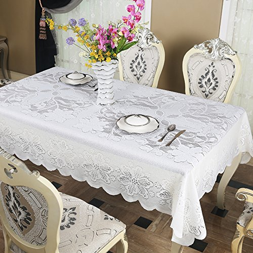 Country Rectangular Coffee Table - FADFAY White Lace Tablecloth Rustic Country Coffee Table Covers Rectangle 39