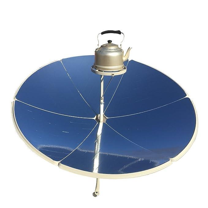 TOPQSC Cocina solar parabólica portátil de 1,5 m de diámetro y 1800 W con mayor eficiencia
