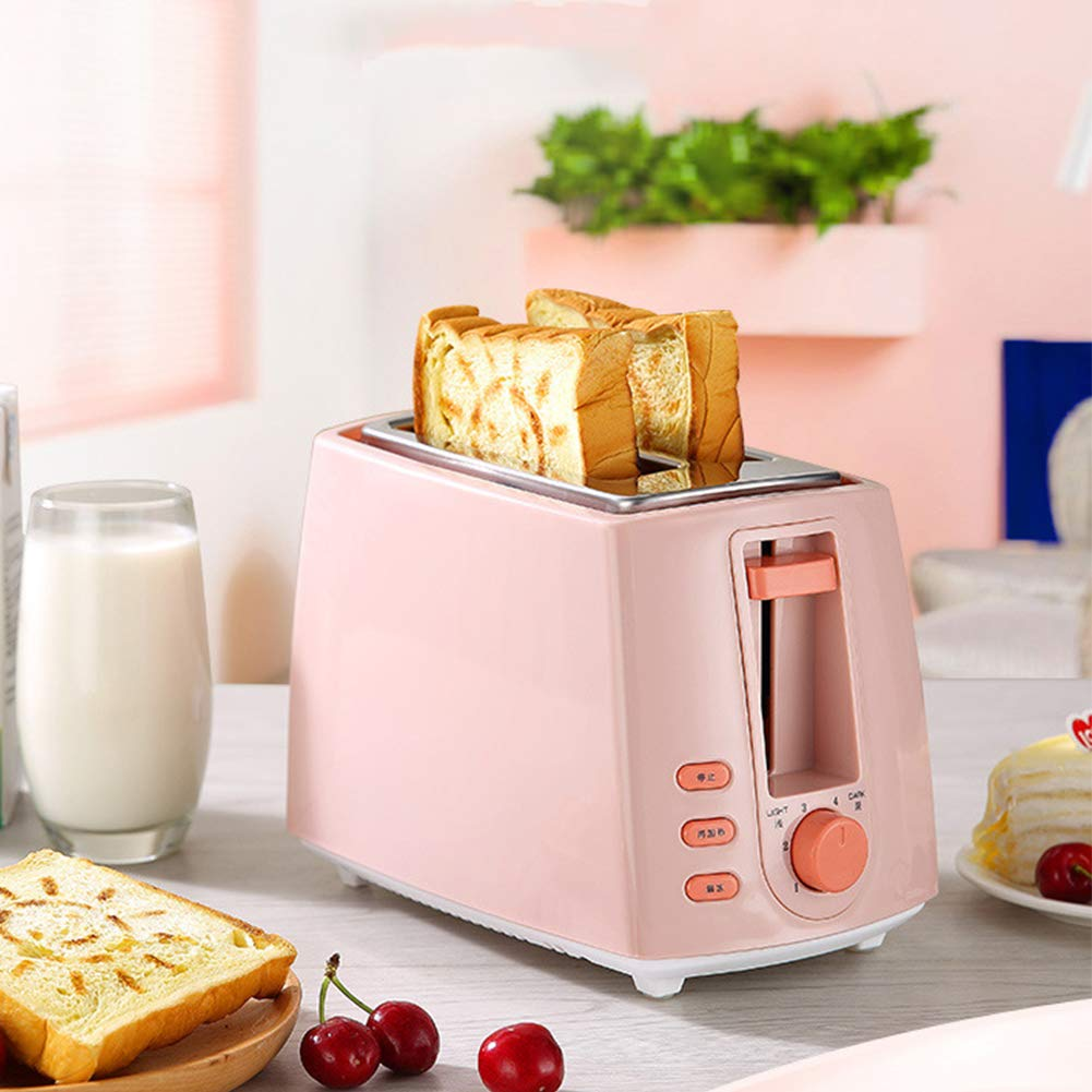 Gyswshh 2-slice Automatic Electric Toaster, Breakfast Maker,Household Bread Toast Machine Pink by Gyswshh (Image #3)
