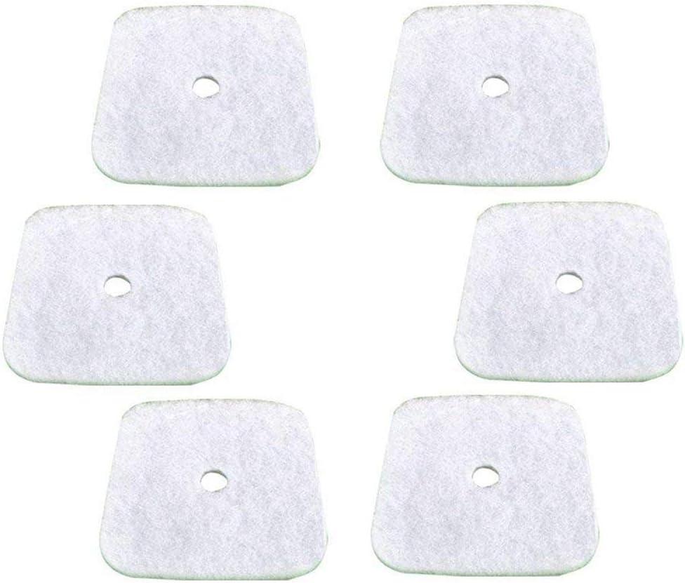 Pack of 6 YDong Air Filter for Mantis 7222 7222E 7222M 7225 7230 7234 7240 7920 7924 Tiller//Cultivator