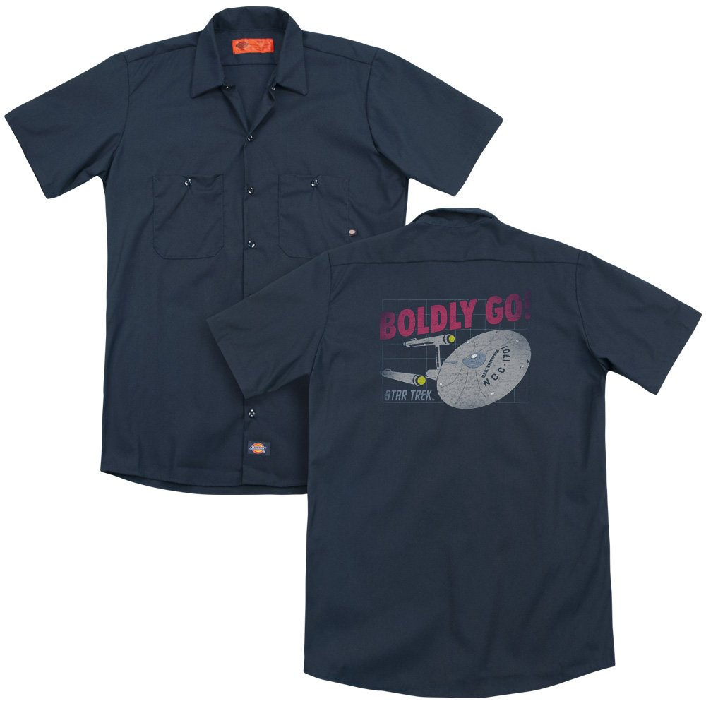 Star Trek Boldly Go Adult Work Shirt