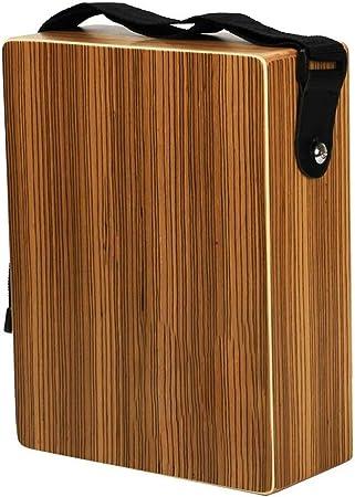 Cajón Caja de Madera del Tambor Cebra Cajon Solo Agujero de Sonidos de percusión del Recorrido para Tamaño Compacto Fácil De Llevar (Color : Brown, Size : 95x220x292mm): Amazon.es: Hogar