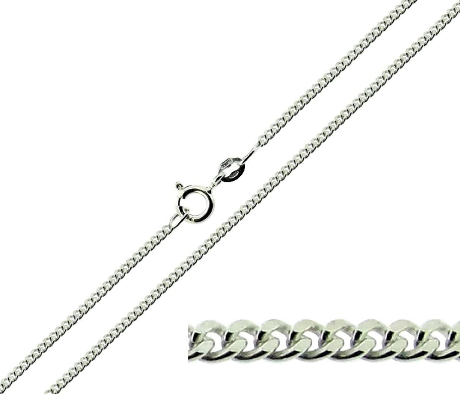 """Solid Italian 925 Sterling Silver Long Curb Chain 14/""""16/""""18/""""22/""""24 Inch."""