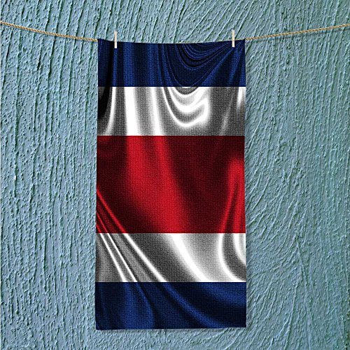 AuraiseHome swimmer towel Flag of COSTA RICA Moisture Wicking W7.9 x H23.6 INCH]()