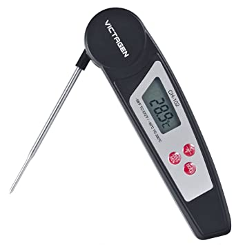 Compra victagen de Super rápida lectura instantánea electrónico termómetro de carne con sonda interior plegable para cocinar en Amazon.es