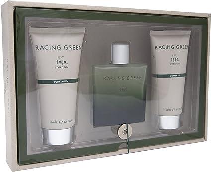 Laurelle Racing verde Loción Corporal, agua de colonia para hombre, en spray, gel