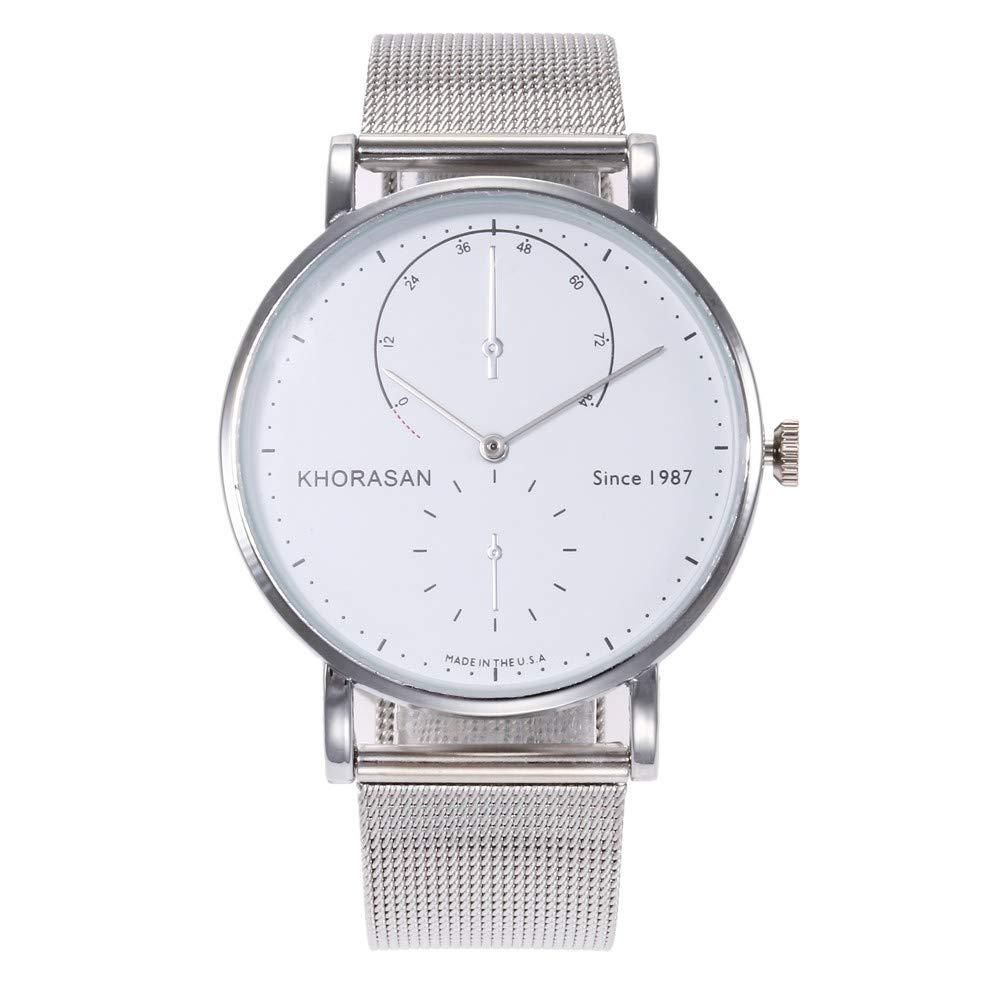 Women Watches,Zainafacai Men's Fashion Wristwatch Ladies Analog Quartz Dress Watches with PU Leather Band