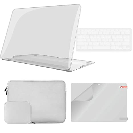 iCasso - Carcasa rígida de plástico para MacBook 4 en 1, con ...