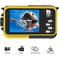 Underwater Camcorder Waterproof Camera Full HD 1080P for Snorkelling Waterproof Point and Shoot Digital Camera Dual Screen Action Camera
