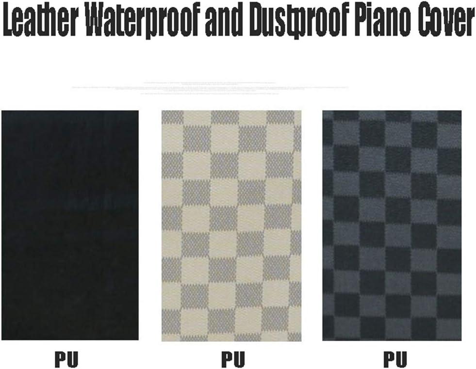 STTC Funda Antipolvo para Piano teclados de 88 Teclas Impermeable y Prevenir el Polvo Cubierta para el Teclado de Piano Funda Protectora para Teclado,Blanco